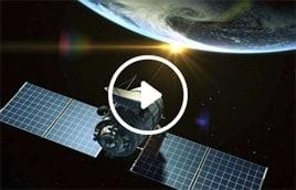 Image of satellite that provides HughesNet customers with high-speed satellite Internet